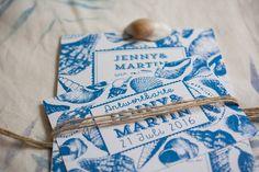 Marine Life Hochzeitsset Hochzeitseinladungen vintage, maritim, blau, modern Einladungen Wedding invitation, invitations