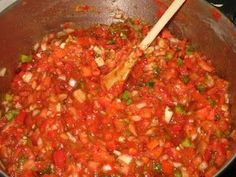 Making and Canning Salsa - recipe and canning details