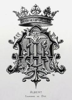 "Monogram ""Albert"" by Charles Demengeot - 1877 | Denis Masharov | Flickr"