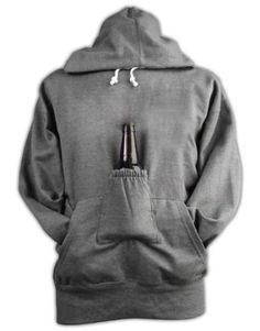 Beer Hoodie Sweatshirt with Beer Pouch - Christmas gift idea