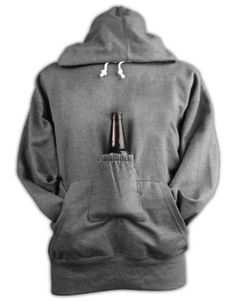 Beer Hoodie Sweatshirt with Beer Pouch  I know a couple of guys who would appreciate this :)