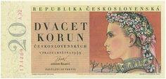 20 Korun from Czechoslovakia 1949 Specimen UNC Money Notes, Saving For Retirement, My Roots, World Coins, Czech Republic, Stamp, European Countries, Retro, Banknote