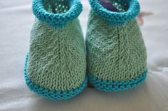 Knit Baby Booties Hand Made Cotton by SillySilz on Etsy
