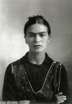 Frida Kahlo with the darling unibrow...so personal so personable so totally screwed-up by llife; the physical pain and love gone bad..i believe her art made her an amazing overcomer...with faith in the spirit of the creative forces within she overcame her demons