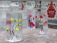 Frozen Flower Centerpieces