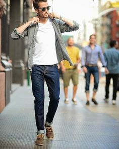 Men's Casual Fashion Style: 50 Looks To Try mens fashion for men style clothes menswear fashion clothing street dapper hair hairstyle Fashion Moda, Look Fashion, Fashion Ideas, Fashion 2018, Winter Fashion, Fashion Clothes, Fashion Outfits, Fashion Boots, Fashion Shirts