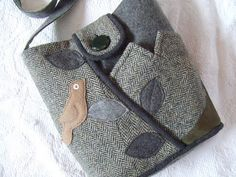 recycled woolen purse