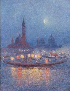 Nocturne, Painting Gallery, Art Gallery, Ferdinand, Modern Art, Contemporary Art, Moonlight Painting, Smart Art, Paper Lanterns