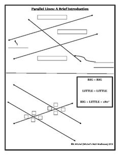 Parallel Lines with Transversals Worksheet