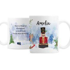 Personalised Ceramic Mug - Nutcracker Nutcracker Christmas, Magical Christmas, Personalized Christmas Mugs, Personalized Items, Christmas Design, Hot Chocolate, Gifts For Friends, Brand Names, Messages
