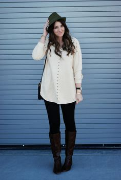 OASAP studded top with leggings and boots. Utah Fasion Blogger I The Red Closet Diary blog. #fashionblogger #fashion