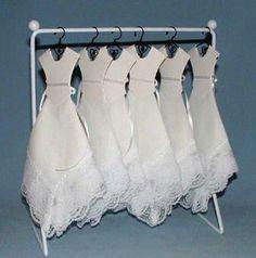 Wedding Dress Hankies - Darling Idea - WIFEWAG's Orange Wedding By Color Blog