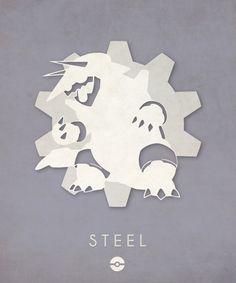 Pokémon Types Poster Series: Steel- Timmy Burrows