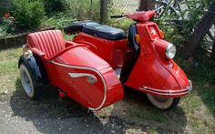 Motorcycle 74 heinkel tourist with steib sidecar