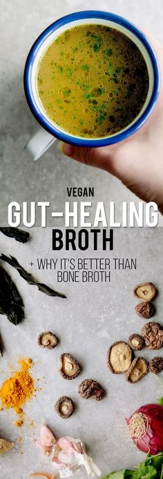 Gut-Healing Vegetable Broth (And Why Its Better Than Bone Broth) vegan gluten-free & paleo. Gut-Healing Vegetable Broth (And Why Its Better Than Bone Broth) Source by cocoonapothecary Whole Food Recipes, Soup Recipes, Vegetarian Recipes, Cooking Recipes, Healthy Recipes, Cooking Videos, Cleanse Recipes, Vegetarian Cooking, Easy Cooking