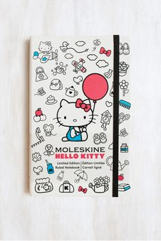 Moleskine - Limited Edition - Ruled Notebook - Hello Kitty - Large (13x21cm) - Red