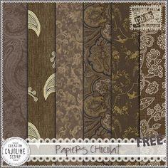 CAJOLINE-SCRAP: Freebie - Papiers Chocolat - CU