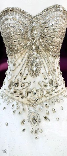 For that extra bit of bling Swarovski Crystal Gown Beautiful Gowns, Beautiful Outfits, Bridal Gowns, Wedding Gowns, Wedding Dresses With Bling, Bling Wedding, Bridal Shoes, Crystal Gown, Glamour
