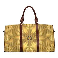 Glowing Wicker Waterproof Travel Bag/Small (Model 1639) #travelbag #bag #vacationbag #wicker #mandala #glow #symmetry #geometric #fractal #mandelbulb3D #abstract