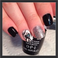 OPI Gelcolor & Perfect Match Gelpolish by LeChat with fine silver glitter