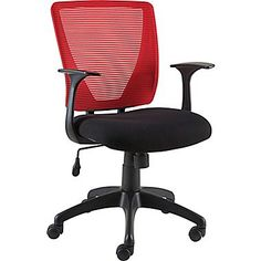 Staples Vexa Mesh Chair, Red