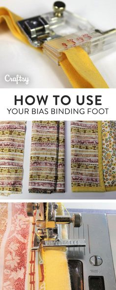 Learn how to use a bias binding foot for quick, professional bindings in this quilting tutorial