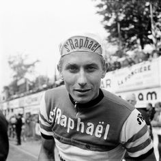 Jacques Anquetil (1934-1987) French road racing cyclist; won the Giro d'Italia (1960, 1964); Vuelta a España (1963); the first cyclist to win the Tour de France five times (1957, 1961-1964), winning 16 individual stages