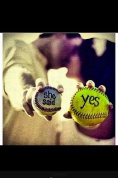 Such a cute wedding idea #love except im not in softball....oh well its cute anyhow