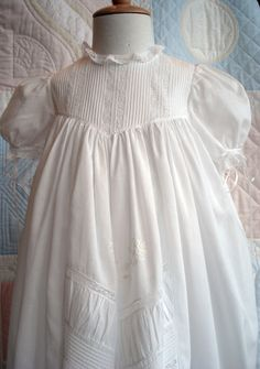 Borrow from the past to start your own traditions. This is what the babies from Downton Abby would be wearing. This beautiful Christening Gown Christening Outfit, Baptism Dress, Christening Gowns, Blessing Dress, Moda Vintage, Baby Gown, Heirloom Sewing, French Lace, Fancy
