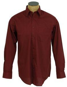 Boys Solid Color Cotton Blend Dress Shirt - Burgundy Size 6 Sunrise Outlet  http   46099f5a8d8a