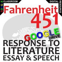 fahrenheit essay topics grading rubrics students are given  fahrenheit 451 essay prompts and speech w rubrics created for digital