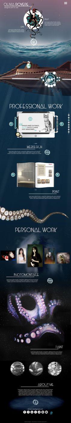 Portfolio designer print & web Olivia Rovere www.oliviarovere.fr #steampunk #webdesign #portfolio #graphist #octopus