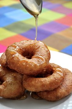 Homemade Greek Loukoumades Recipe- The Greek Doughnut Greek Sweets, Greek Desserts, Greek Recipes, Just Desserts, Churros, Greek Loukoumades Recipe, Greek Donuts, Greek Cookies, Greek Cake