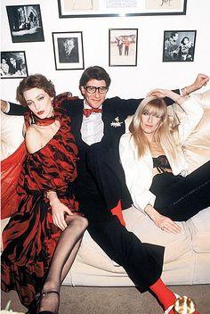 Lou Lou De La Falaise, Yves Saint Laurent and Betty Catroux, Paris 1978