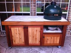 New Diy Kitchen Table Plans Green Eggs Ideas Big Green Egg Table, Big Green Egg Grill, Green Eggs And Ham, Grill Table, Grill Area, Green Egg Recipes, Kitchen Wall Colors, Lounge, Table Plans