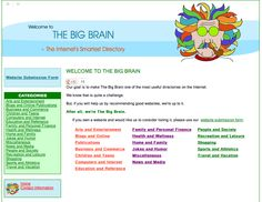 Our goal is to make The Big Brain one of the most useful directories on the Internet.    Designed by WebChick.com