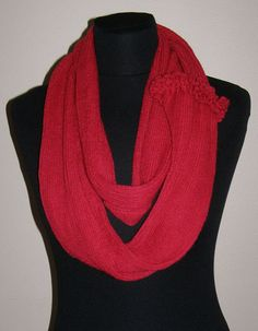 Dark RED Cowl Scarf  Icelandic Production by HuldaGK on Etsy, $20.00