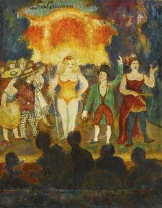 Georges Lemmen - SCÈNE DE REVUE; Creation Date: 1888; Medium: Oil on panel
