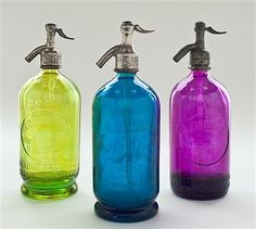 Splash of Color Vintage Argentine Seltzer Bottles S/3