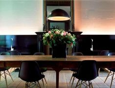 Old table,modern black chairs. Inspirational images and photos of Belgium : Remodelista