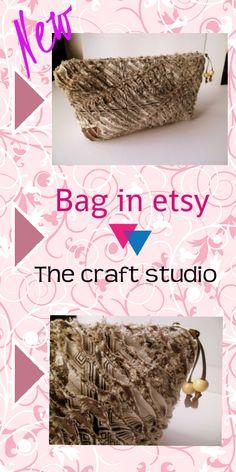 Bolsa organizadora tons bege handmade