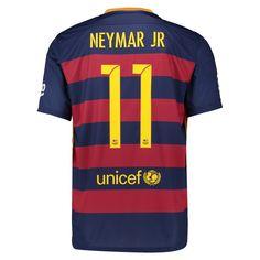 14868c536c2 Nike FC Barcelona 'NEYMAR 11' 2015-'16 Home Soccer Jersey (Blue/Red)