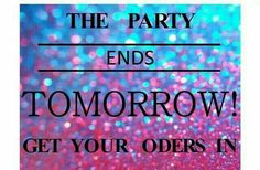 The party ends tomorrow. Place your order. https://ashleyblackburn.jamberry.com/us/en/