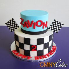 Zavion's Race Car Cake
