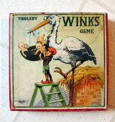 Vintage Game of Tiddledy Winks Original Box. $17.50, via Etsy.