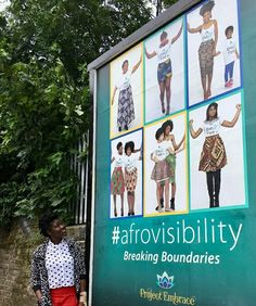 Afro hair getting some well deserved positively beautiful exposure with the Project Embrace #afrovisibility billboard campaign.