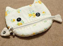 Cat zipper bag 猫吃鱼~