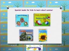 Bilingual books to learn about summer