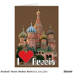 Russland - Russia  Moskau  Karte Taj Mahal, Building, Travel, La Luna, Matryoshka Doll, Moscow, Keepsakes, Russia, Cards