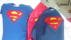 All boys like to pretend to be a Super Hero. Let them dress up in a superman tee shirt, and a cape. Cape can be red or blue with a large superman emblem on the back. If they have a sister, check out my girls superman costume. You will love it.